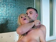 Big Natural Tits, Big Tits, Blonde, Blowjob, Cheating, Cowgirl, HD, Housewife, MILF, Old,