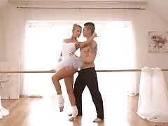 Ballerina, Blonde, Blowjob, Bold, Boobless, Cowgirl, Cum On Tits, Cumshot, Cute, Dancing,