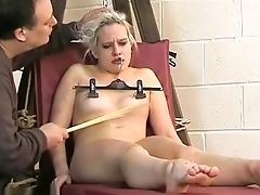 BDSM, Blonde, Boobless, Cute, Fetish, Nipples, Spanking, Submissive,