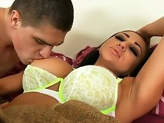 Audrey Bitoni, Bedroom, Big Tits, Boyfriend, Brunette, Hardcore, Son, Tanned,