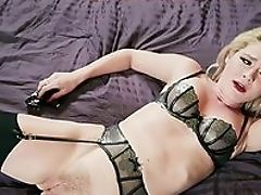 Bedroom, Blonde, Bold, Cunt, From Behind, Handcuffed, Handjob, HD, Lingerie, Natural Tits,
