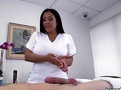 Brunette, Handjob, HD, Kiara Mia, Massage,